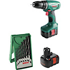 more details on Bosch 14.4V Cordless Drill with 2 x 1.2Ah Ni-Cd batteries.