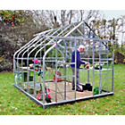 more details on Curved Eaves Greenhouse with Horticultural Glass - 6 x 8ft.
