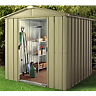 more details on Hampton Deluxe Apex Metal Shed & Support Frame - 6 x 8ft.