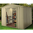 more details on Hampton Deluxe Apex Metal Shed & Support Frame - 10 x 7ft.