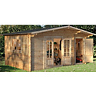 more details on Forest Garden Wrekin Wooden Log Cabin.