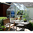 more details on Aluminium Greenhouse & Base with Horticultural Glass - 6x8ft
