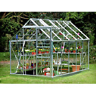 more details on Aluminium Greenhouse & Base with Horticultural Glass-6x10ft.