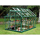 more details on Greenhouse & Base with Horticultural Glass - 6x10ft - Green.