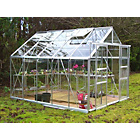 more details on Aluminium Double Door Greenhouse with Safety Glass - 8x10ft.