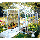 more details on Aluminium Double Door Greenhouse with Safety Glass - 8x12ft.