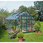 more details on Double Door Greenhouse with Safety Glass - 8x12ft - Green.
