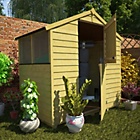 more details on BillyOh Pressure Treated Overlap Apex Shed - 4 x 6ft.