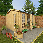 more details on BillyOh Garden Office Wooden Log Cabin - 9 x 11ft.