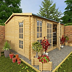 more details on BillyOh Garden Office Wooden Log Cabin - 13 x 11ft.