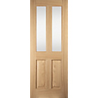more details on Jeld-Wen 2 Lite Glazed Oak Veneer Interior Door 1981x762mm.