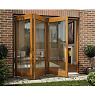 more details on Jeld-Wen Oak Veneer Folding Patio Door Set 2105 x 2405mm.
