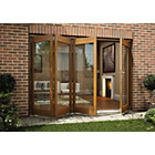 more details on Jeld-Wen Oak Veneer Folding Patio Door Set 2105 x 3005mm.