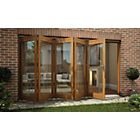 more details on Jeld-Wen Oak Veneer Folding Patio Door Set 2105 x 3605mm.