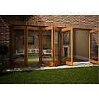 more details on Jeld-Wen Oak Veneer Folding Patio Door Set 2105 x 4205mm.