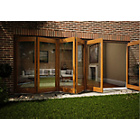 more details on Jeld-Wen Oak Veneer Folding Patio Door Set 2105 x 4805mm.