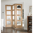 more details on Jeld-Wen Interior Oak Veneer Divider Oak Frame 2044x1939mm.