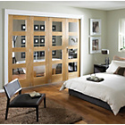 more details on Jeld-Wen Interior Oak Veneer Divider Oak Frame 2044x2552mm.