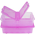 more details on Pair of 40 Litre Pink Underbed Boxes with Lids.