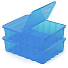 more details on Pair of Underbed Boxes with Lids - Blue.