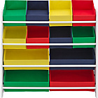 more details on 4 Tier White Child's Storage Unit with Bins.