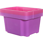 more details on Keter 30L Plastic Pack 6 Stack and Nest Boxes-Lilac & Pink.