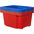 more details on Keter 30L Plastic Pack 6 Stack and Nest Boxes-Blue and Red.
