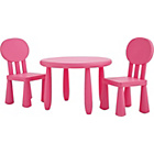 more details on Funky Plastic Chair and Table - Pink.