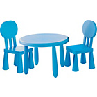 more details on Funky Plastic Chair and Table - Blue.