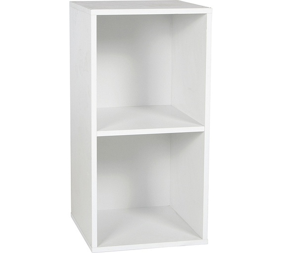 buy phoenix 2 cube storage unit white at. Black Bedroom Furniture Sets. Home Design Ideas