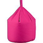 more details on ColourMatch Small Cotton Beanbag - Funky Fuchsia.