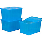 more details on Set of 3 x 28 Litre Crocodile Lid Storage Boxes - Blue.