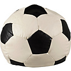 more details on Extra Large Leather Effect Football Beanbag - Black & White.