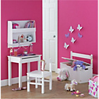 more details on Kids Scandinavia Shelving Display Unit with Hooks - White.