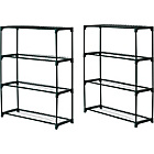 more details on 4 Shelf Tubular Greenhouse Staging - Pack of 2.