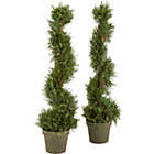 more details on Artificial 91cm Cedar Topiary Tree - Pack of 2.