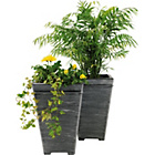 more details on Terraneuva Tall Square Planter - Pack of 2.