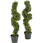 more details on Artificial 91cm Eucalyptus Topiary Twist - Pack of 2.