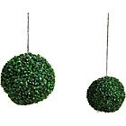 more details on Artificial 30cm Topiary Grass Balls - Pack of 2.