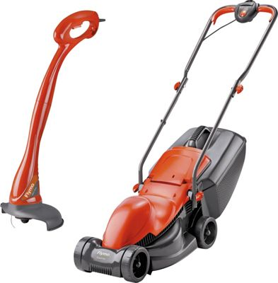 Flymo Corded 900W Lawnmower and 230W Mini Grass Trimmer
