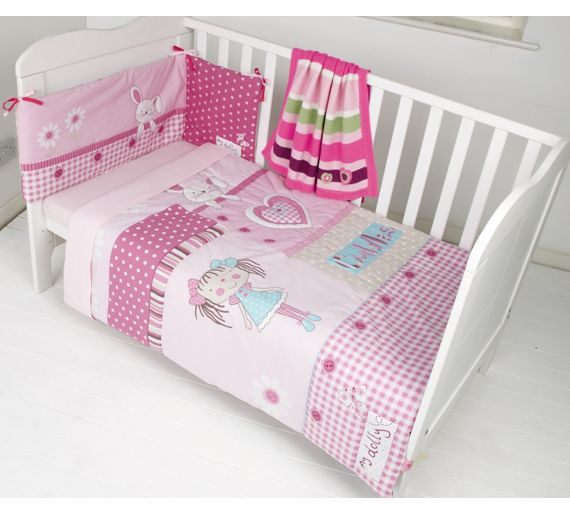 buy clair de lune my dolly cot bedding set at. Black Bedroom Furniture Sets. Home Design Ideas