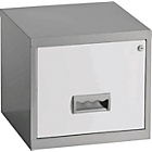 more details on Pierre Henry 1 Drawer Filing Cabinet - Silver/White.