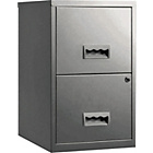 more details on Pierre Henry 2 Drawer Filing Cabinet - Silver.