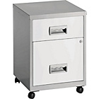 more details on Pierre Henry 2 Drawer Combi Filing Cabinet - Silver/White.