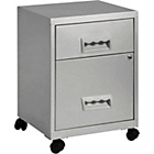 more details on Pierre Henry 2 Drawer Combi Filing Cabinet - Silver.
