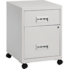 Pierre Henry 2 Drawer Combi Filing Cabinet - Grey