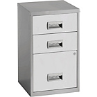 more details on Pierre Henry 3 Drawer Combi Filing Cabinet - Silver/White.