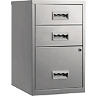 more details on Pierre Henry 3 Drawer Combi Filing Cabinet - Silver.
