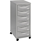 Pierre Henry 6 Drawer Multi Filing Cabinet - Silver/Grey