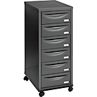 Pierre Henry 6 Drawer Multi Filing Cabinet - Black